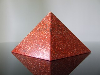 Aries Gemstone Birthstone Zodiac Orgone Red Pyramid